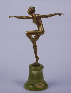 An art deco Josef Lorenzl bronze figure, Vienna circa 1930