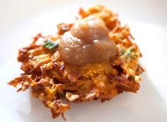 Sweet Potato Latkes with Smoked Apple Sauce
