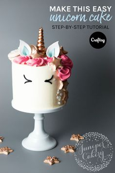 The latest cake decorating trend? These beyond-adorable unicorn cakes! Read on to learn how to make your own. https://www.craftsy.com/blog/2016/12/unicorn-cake/?cr_linkid=Pinterest_Cake_OP_BLOG_BlogRefer_Title&cr_maid=89991&regMessageId=21&cr_source=Pinterest&cr_medium=Social%20Engagement