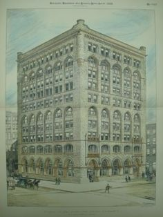 The Society for Savings, Cleveland,1888     Burnham & Root, architects