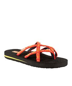 Take a look at this Teva Sorbet Plaid Orange Olowahu Sandal on zulily today!