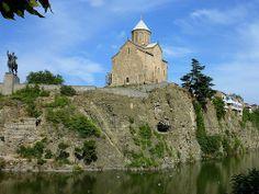 The Metekhi Church and King Vakhtang Gorgasal