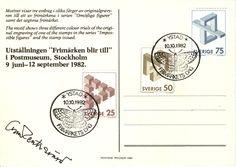 Frimärkets Dag 10-10-1982 med Oscar Reutersvärds autograf