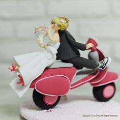 scooter cake topper