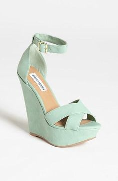 Great color! Steve Madden Mint Wedge Sandal