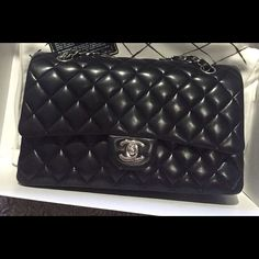 f0456987830f Chanel handbag Used but like new ! Chanel classic black lamb handbag. CHANEL  Bags Shoulder