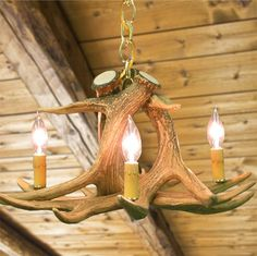 Check out the deal on Whitetail 3 Antler Chandelier at Cabin Place