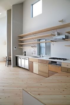 like the mix and match cabinets, material variations can be nice