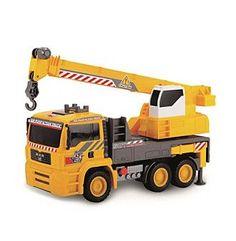 "Dickie Toys 12"" Air Pump Actino Mobile Crane Truck"