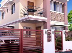 This is a small house design considering its area but still functions as a complete house. With its simple roof configuration, this small house offers simplicity not only from the