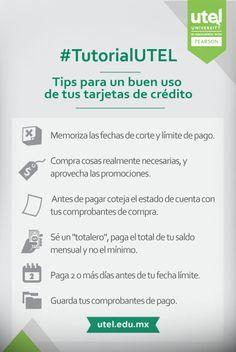 En este #TutorialUTEL te damos algunos #Tips para un buen uso de tus #tarjetas de #credito. #Tutorial #UTEL