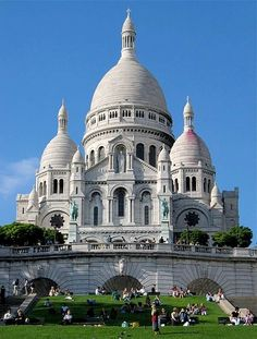 Sacre Coeur- Paris, you can see the entire city from the steps of this church.