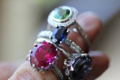 Gorgeous colours - Brisbane Jeweller - Coloured Gems - MONTASH Jewellery Design - www.montash.com.au