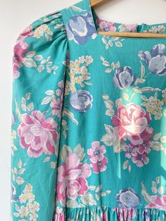 Fashion Textiles, Turquoise Dress, Laura Ashley, Underarm, American Girl, Scene, Doll, Vintage, Dresses