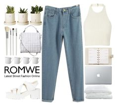 """ROMWE"" by rarranere ❤ liked on Polyvore featuring Louis Vuitton, LSA International, Cath Kidston, Crate and Barrel and vintage"