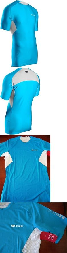 Shirts 59368: Sugoi Rsr Shirt Mens Large Cyan Blue Run Gym Pro Fit Short Sleeve Elite Fabric -> BUY IT NOW ONLY: $31.96 on eBay!