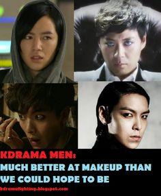 Fashion Face-off: Battle of the Guyliner #kdramafighting #kdramahumor