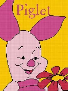 COZYCONCEPTS PIGLET WITH FLOWER CROCHET AFGHAN PATTERN GRAPH PDF EMAIL