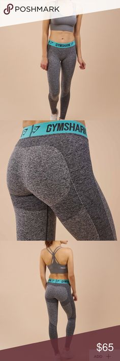 NWT Gymshark Flex legging NWT Gymshark Flex leggings mark grey/turquoise Pants Leggings