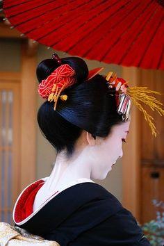 Geisha 芸者 - Kyoto, Japan ·«ǂ Geisha Samurai, Geisha Art, Japanese Kimono, Japanese Art, Traditional Japanese, Japanese Beauty, Asian Beauty, Japan Kultur, Monte Fuji