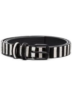 385a941ccaf Haider Ackermann Black And White Striped Leather Belt - Farfetch