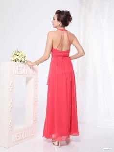 short bridesmaid dresses sexy halter neck chiffon floor length dress $119.89