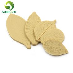 5PCS 3D Fondant Silicone Mold Leaf Silicon Sugar Craft Mould Decorating Silikon Gum Paste Leafage Soap Mold For Cake Decoration #clothing,#shoes,#jewelry,#women,#men,#hats,#watches,#belts,#fashion,#style