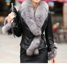 Leather jacket......so pretty.