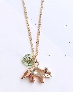 Tri Your Best Triceratops Dinosaur Necklace