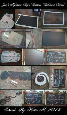DIY Nightmare Before Christmas Halloween Props: Jack's Chalkboard Christmas Equation: Nightmare Before Christmas DIY Prop Tutorial