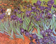 Cross stitch chart: Irises - Vincent Van Gogh