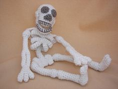 Make Your Bones Skeleton Crochet Amigurumi by CraftyDebDesigns, $4.98