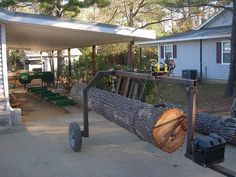 homemade log mover