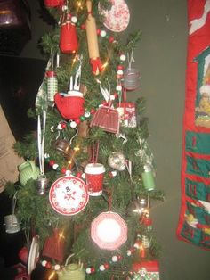 116 Best Christmas Kitchen Tree Images On Pinterest Cooking And Decor