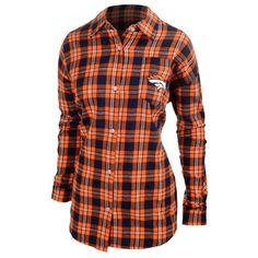 Denver Broncos Womens Wordmark Basic Flannel Shirt