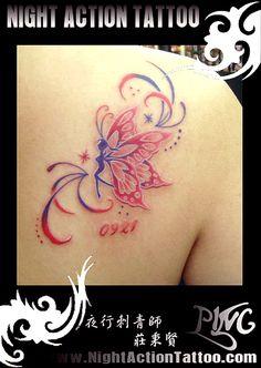 Colorful fairy tattoo