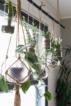 KUKKALA-tie hanging plant to the unused curtain rods! #outdoorhangingplants