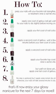 Gel nail colour