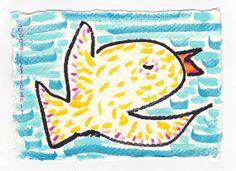 original drawing  Big Birdy by doodleslice on Etsy, $60.00