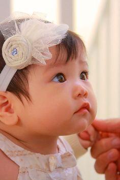 Vintage headband for baby! <3