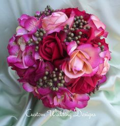 Beautiful Round Fall Wedding Bouquet.