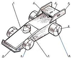 Чертеж игрушки гоночный автомобиль - Игрушки транспорт - Деревянные игрушки - Игрушки и поделки своими руками