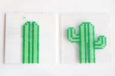 Creative DIY aus Bügelperlen: cactus-shaped earring support of the Hama iron bead … – Basteln – Hama Beads Perler Bead Designs, Hama Beads Design, Diy Perler Beads, Hama Beads Patterns, Perler Bead Art, Pearler Beads, Beading Patterns, Pixel Art, Pearl Beads Pattern