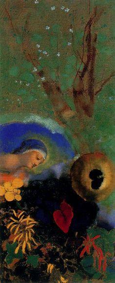 """windypoplarsroom:  Odilon Redon """"Homenaje a Leornado da Vinci"""""""