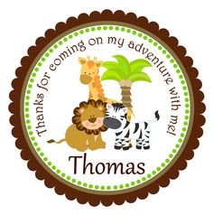 Jungle Stickers Personalized Labels Safari Gift by thepaperkingdom, $6.00