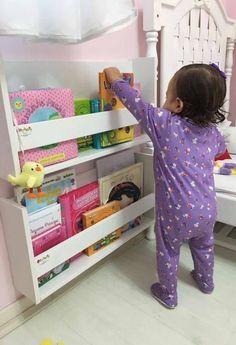 Bookshelf: Learn How to Organize Gorgeous Models Baby Bedroom, Baby Room Decor, Girls Bedroom, Toddler Rooms, Toddler Bed, Playroom Flooring, Bookshelves Kids, Toy Rooms, Kids Room Design