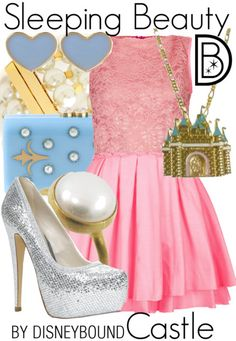 Sleeping Beauty Castle by Disneybound Disney Princess Outfits, Disney Dress Up, Disney Themed Outfits, Sleeping Beauty Castle, Disney Sleeping Beauty, Disney Couture, School Looks, Disneybound Outfits, Disney Inspired Fashion