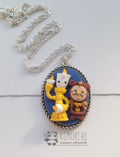 LUMIERE and Cogsworth, beauty and the beast, Cameo Necklace by KOMOREBE15 on Etsy https://www.etsy.com/listing/265857212/lumiere-and-cogsworth-beauty-and-the