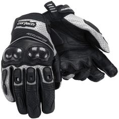 Special Offers - Cortech Accelerator Series 3 Mens Leather Street Motorcycle Gloves  Black/Silver / Large - In stock & Free Shipping. You can save more money! Check It (June 02 2016 at 11:59PM) >> http://bestsportbikejacket.com/cortech-accelerator-series-3-mens-leather-street-motorcycle-gloves-blacksilver-large/
