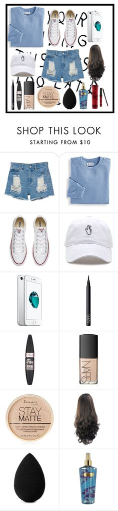 """""""energy"""" by maddyb202 ❤ liked on Polyvore featuring Monki, Blair, Converse, NARS Cosmetics, Maybelline, Rimmel, beautyblender, Victoria's Secret, Kylie Cosmetics and energy"""